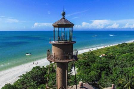 Leuchtturm am Strand von Sanibel Island Florida