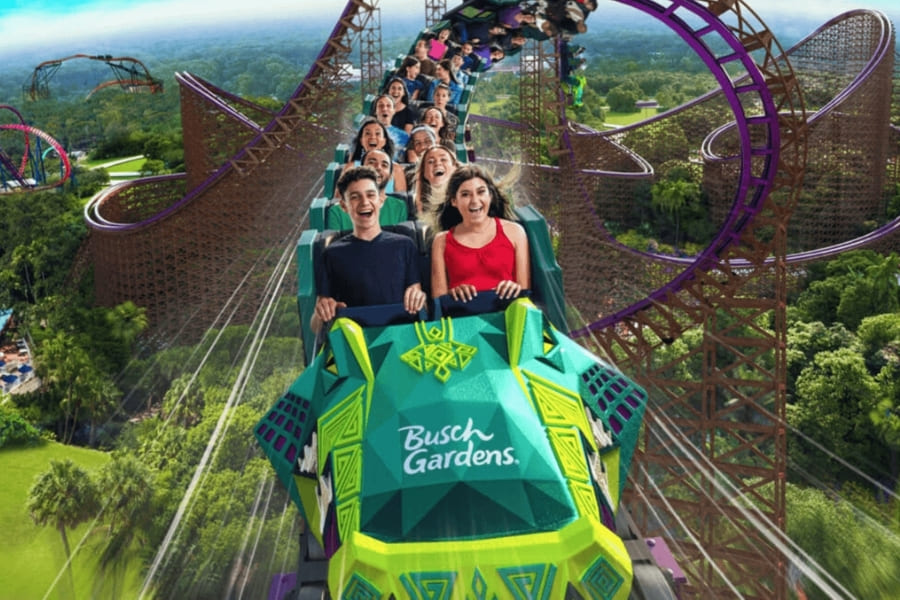 Achterbahn in Busch Gardens Florida