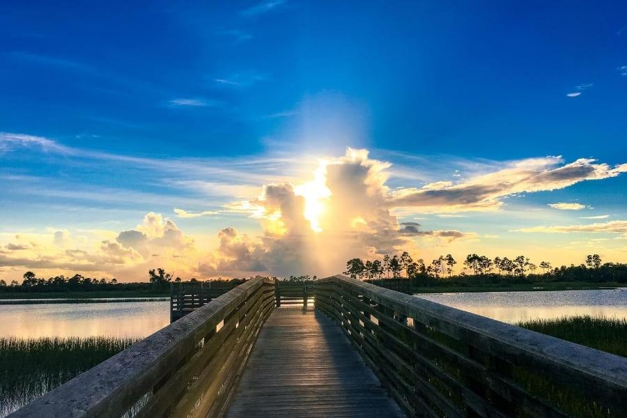 Sonnenuntergang im Everglades Nationalpark in Florida