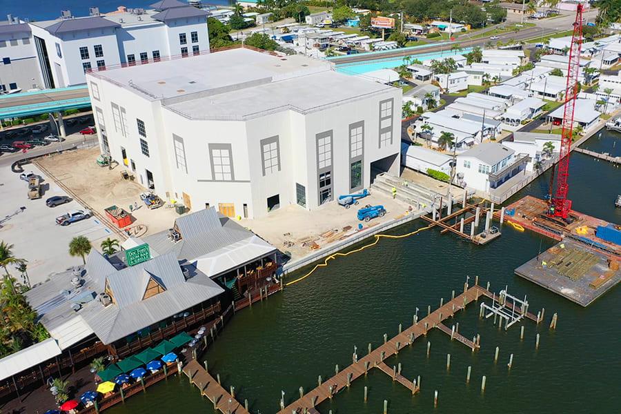 Gulf Star Marina Hafen in Fort Myers Beach von oben