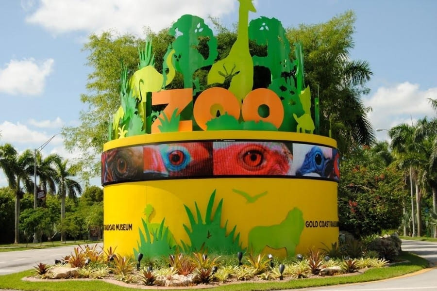 Eingangsbereich vom Miami Zoo in Florida