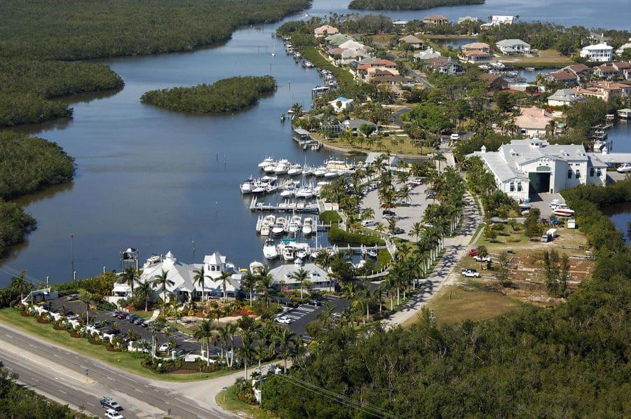 Port Sanibel Marina Hafen in Fort Myers von oben