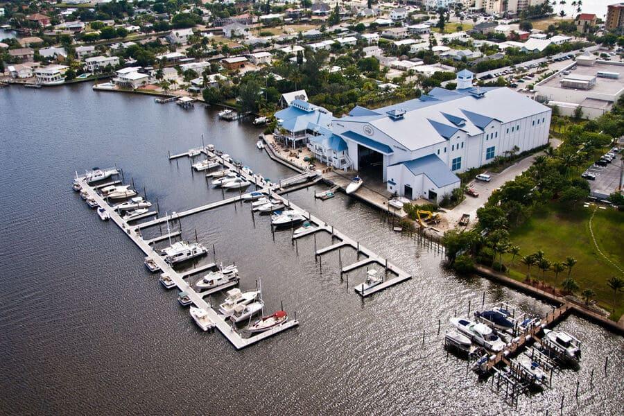 Snook Bight Marina Hafen in Fort Myers Beach von oben
