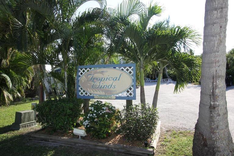 Eingangsbereich vom Tropical Winds Beachfront Motel auf Sanibel Island